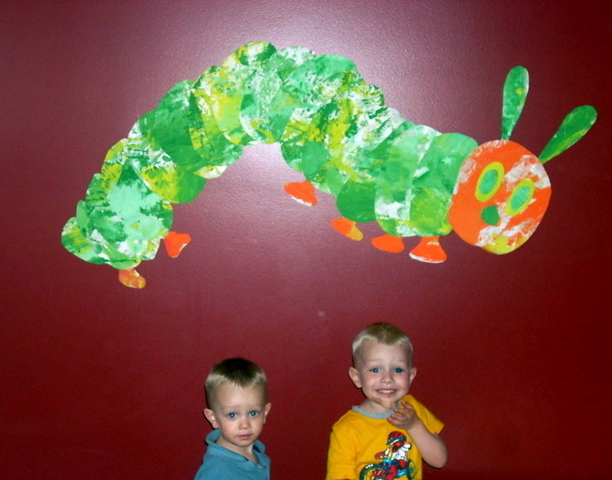 Eric carle author study building your own very hungry for Eric carle mural